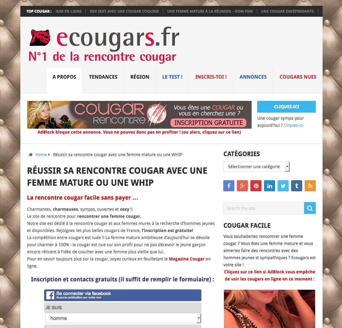 Cougar infidèle
